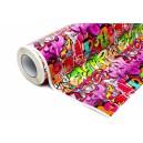 Lesklá graffiti polepová fólie 152x100cm - interiér/exteriér