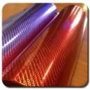 4D Karbonová chromovaná červená polepová fólie 150x100cm - interiér/exteriér_1